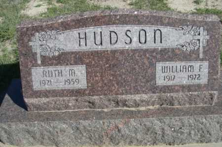 HUDSON, WILLIAM F. - Dawes County, Nebraska | WILLIAM F. HUDSON - Nebraska Gravestone Photos