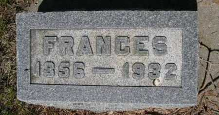 HUFF, FRANCES - Dawes County, Nebraska | FRANCES HUFF - Nebraska Gravestone Photos
