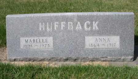 HUFFBACK, ANNA - Dawes County, Nebraska | ANNA HUFFBACK - Nebraska Gravestone Photos