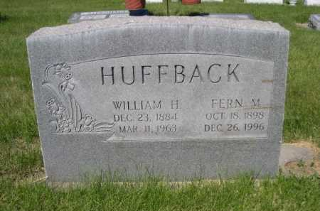 HUFFBACK, WILLIAM H. - Dawes County, Nebraska | WILLIAM H. HUFFBACK - Nebraska Gravestone Photos