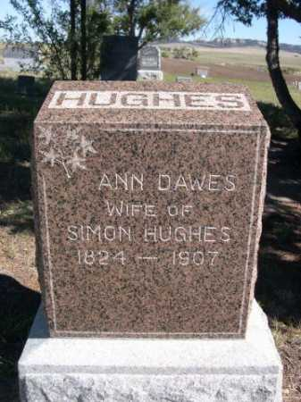 DAWES HUGHES, ANN - Dawes County, Nebraska | ANN DAWES HUGHES - Nebraska Gravestone Photos