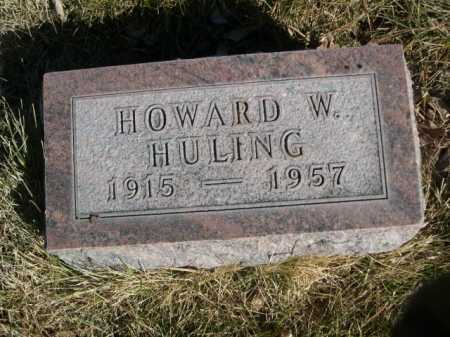 HULING, HOWARD W. - Dawes County, Nebraska | HOWARD W. HULING - Nebraska Gravestone Photos