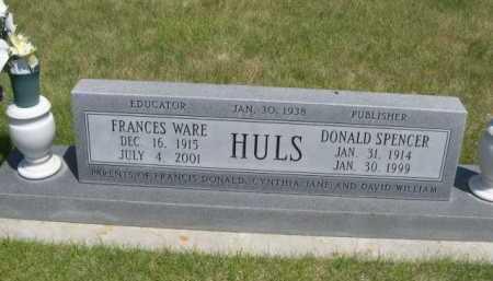 WARE HULS, FRANCES - Dawes County, Nebraska | FRANCES WARE HULS - Nebraska Gravestone Photos