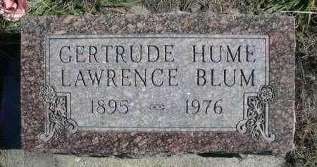 HUME, GERTRUDE - Dawes County, Nebraska   GERTRUDE HUME - Nebraska Gravestone Photos