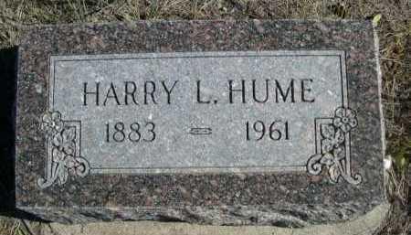 HUME, HARRY L. - Dawes County, Nebraska   HARRY L. HUME - Nebraska Gravestone Photos