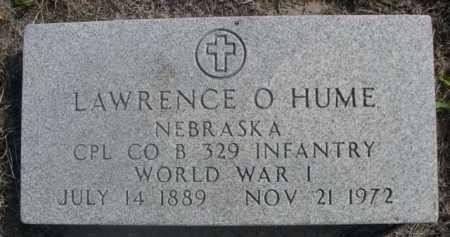 HUME, LAWRENCE O. - Dawes County, Nebraska | LAWRENCE O. HUME - Nebraska Gravestone Photos