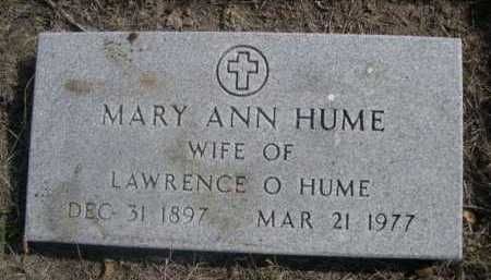 HUME, MARY ANN - Dawes County, Nebraska | MARY ANN HUME - Nebraska Gravestone Photos