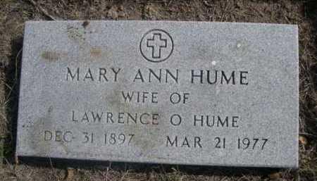 HUME, MARY ANN - Dawes County, Nebraska | MARY ANN HUME - Nebraska Gravestone Photos