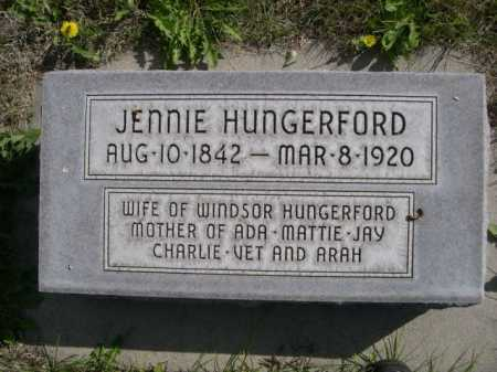 HUNGERFORD, JENNIE - Dawes County, Nebraska | JENNIE HUNGERFORD - Nebraska Gravestone Photos