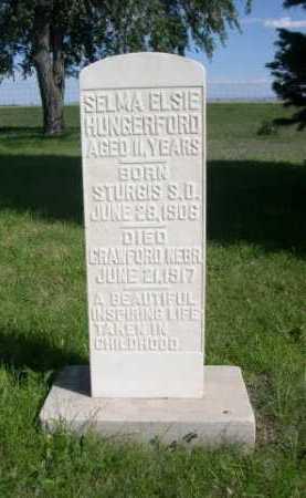 HUNGERFORD, SELMA ELSIE - Dawes County, Nebraska   SELMA ELSIE HUNGERFORD - Nebraska Gravestone Photos
