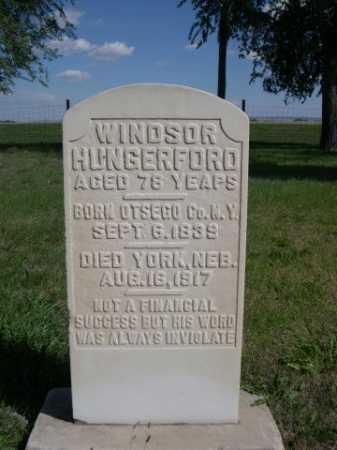 HUNGERFORD, WINDSOR - Dawes County, Nebraska   WINDSOR HUNGERFORD - Nebraska Gravestone Photos