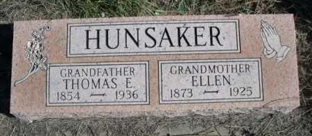HUNSAKER, ELLEN - Dawes County, Nebraska   ELLEN HUNSAKER - Nebraska Gravestone Photos