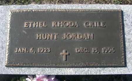 CRILE HUNT, ETHEL RHODA - Dawes County, Nebraska | ETHEL RHODA CRILE HUNT - Nebraska Gravestone Photos