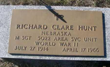 HUNT, RICHARD CLARE - Dawes County, Nebraska   RICHARD CLARE HUNT - Nebraska Gravestone Photos
