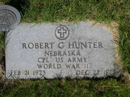 HUNTER, ROBERT G - Dawes County, Nebraska   ROBERT G HUNTER - Nebraska Gravestone Photos