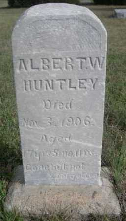HUNTLEY, ALBERT W. - Dawes County, Nebraska | ALBERT W. HUNTLEY - Nebraska Gravestone Photos