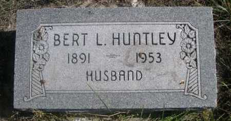HUNTLEY, BERT L. - Dawes County, Nebraska | BERT L. HUNTLEY - Nebraska Gravestone Photos