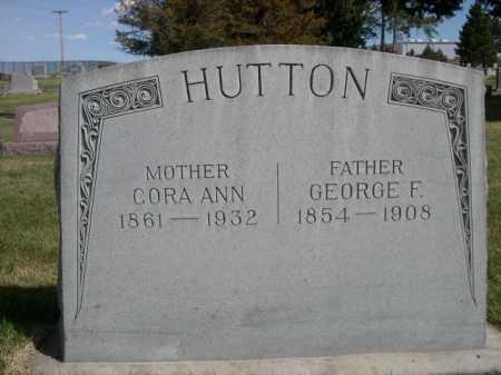 HUTTON, GEORGE F. - Dawes County, Nebraska | GEORGE F. HUTTON - Nebraska Gravestone Photos