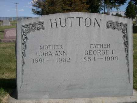 HUTTON, GEORGE F. - Dawes County, Nebraska | GEORGE F. HUTTON - Nebraska Gravestone Photos
