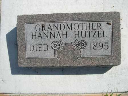 HUTZEL, HANNAH - Dawes County, Nebraska | HANNAH HUTZEL - Nebraska Gravestone Photos