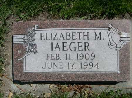 IAEGER, ELIZABETH M. - Dawes County, Nebraska | ELIZABETH M. IAEGER - Nebraska Gravestone Photos