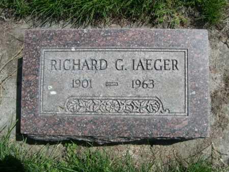 IAEGER, RICHARD G. - Dawes County, Nebraska | RICHARD G. IAEGER - Nebraska Gravestone Photos