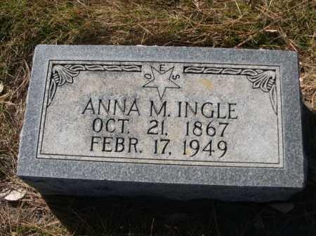 INGLE, ANNA M. - Dawes County, Nebraska | ANNA M. INGLE - Nebraska Gravestone Photos