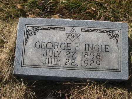 INGLE, GEORGE E. - Dawes County, Nebraska | GEORGE E. INGLE - Nebraska Gravestone Photos