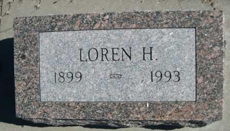 INMAN, LOREN H. - Dawes County, Nebraska   LOREN H. INMAN - Nebraska Gravestone Photos
