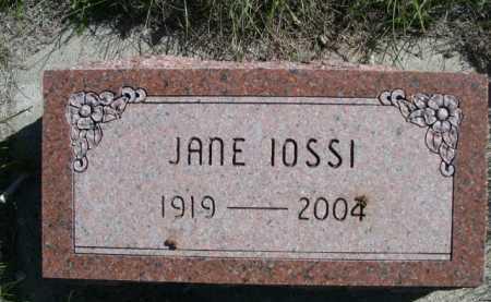 IOSSI, JANE - Dawes County, Nebraska | JANE IOSSI - Nebraska Gravestone Photos