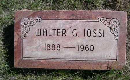 IOSSI, WALTER G. - Dawes County, Nebraska   WALTER G. IOSSI - Nebraska Gravestone Photos
