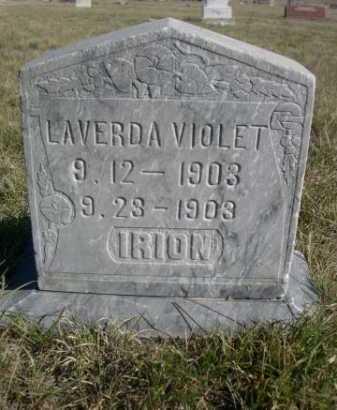 IRION, LAVERDA VIOLET - Dawes County, Nebraska | LAVERDA VIOLET IRION - Nebraska Gravestone Photos