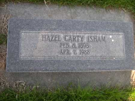 CARTY ISHAM, HAZEL - Dawes County, Nebraska | HAZEL CARTY ISHAM - Nebraska Gravestone Photos