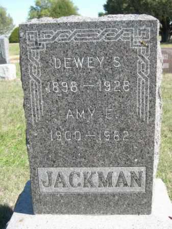 JACKMAN, DEWEY S. - Dawes County, Nebraska | DEWEY S. JACKMAN - Nebraska Gravestone Photos