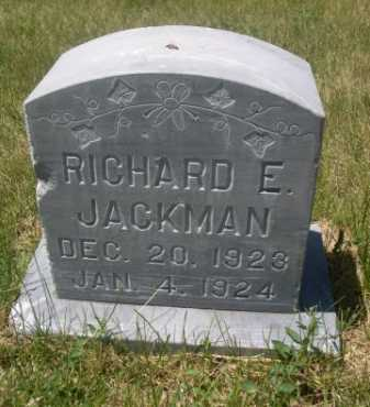 JACKMAN, RICHARD E. - Dawes County, Nebraska | RICHARD E. JACKMAN - Nebraska Gravestone Photos