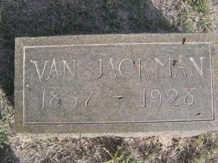 JACKMAN, VAN - Dawes County, Nebraska | VAN JACKMAN - Nebraska Gravestone Photos
