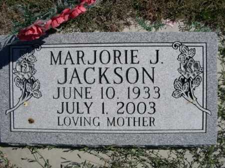 JACKSON, MARJORIE J. - Dawes County, Nebraska   MARJORIE J. JACKSON - Nebraska Gravestone Photos
