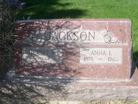 JACKSON, THOMAS W. - Dawes County, Nebraska | THOMAS W. JACKSON - Nebraska Gravestone Photos