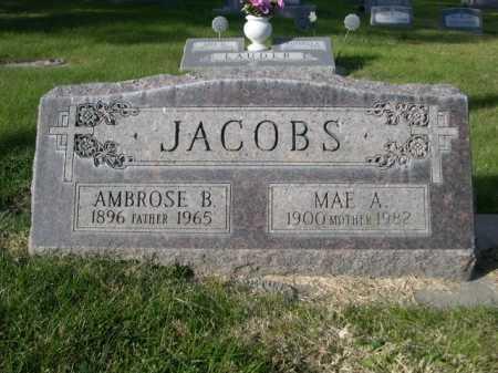 JACOBS, MAE A. - Dawes County, Nebraska | MAE A. JACOBS - Nebraska Gravestone Photos