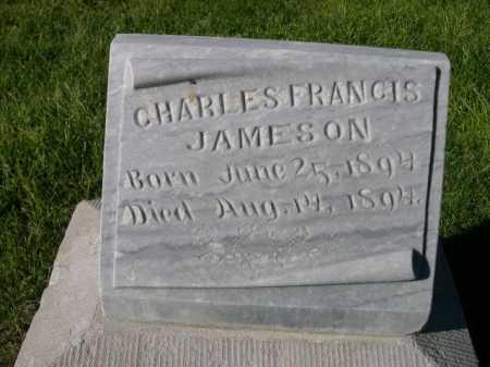 JAMESON, CHARLES FRANCIS - Dawes County, Nebraska | CHARLES FRANCIS JAMESON - Nebraska Gravestone Photos
