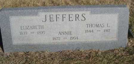 JEFFERS, ELIZABETH - Dawes County, Nebraska | ELIZABETH JEFFERS - Nebraska Gravestone Photos