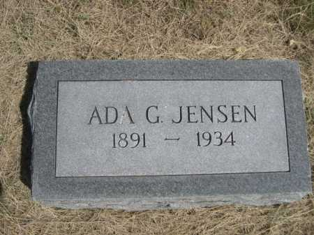 JENSEN, ADA G. - Dawes County, Nebraska | ADA G. JENSEN - Nebraska Gravestone Photos