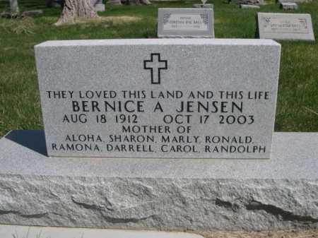 JENSEN, BERNICE A - Dawes County, Nebraska   BERNICE A JENSEN - Nebraska Gravestone Photos