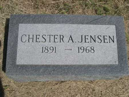 JENSEN, CHESTER A. - Dawes County, Nebraska | CHESTER A. JENSEN - Nebraska Gravestone Photos