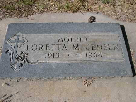 JENSEN, LORETTA M. - Dawes County, Nebraska | LORETTA M. JENSEN - Nebraska Gravestone Photos