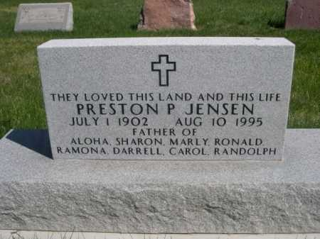 JENSEN, PRESTON P. - Dawes County, Nebraska | PRESTON P. JENSEN - Nebraska Gravestone Photos