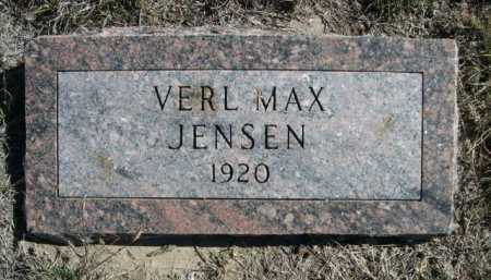 JENSEN, VERL MAX - Dawes County, Nebraska | VERL MAX JENSEN - Nebraska Gravestone Photos