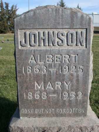 JOHNSON, ALBERT - Dawes County, Nebraska | ALBERT JOHNSON - Nebraska Gravestone Photos