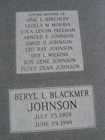 JOHNSON, BERYL L. - Dawes County, Nebraska | BERYL L. JOHNSON - Nebraska Gravestone Photos