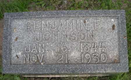JOHNSON, BENJAMIN E. - Dawes County, Nebraska | BENJAMIN E. JOHNSON - Nebraska Gravestone Photos